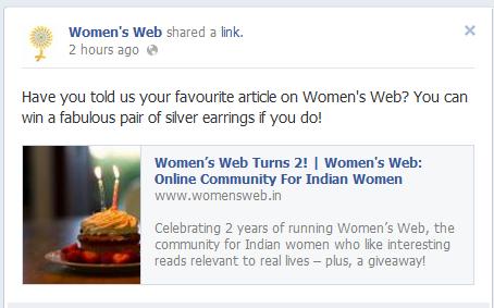Women's Web on Facebook